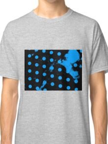 abstract polka dots blue Classic T-Shirt