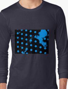 abstract polka dots blue Long Sleeve T-Shirt