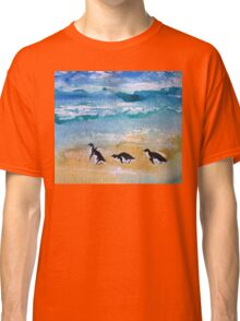 Three Little Penguins Out for a Stroll  Classic T-Shirt