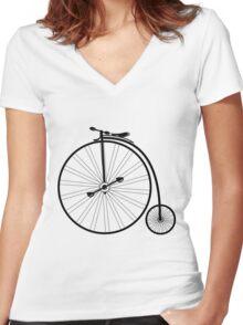 vintage bike  Women's Fitted V-Neck T-Shirt