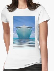 cruise ship IV Womens Fitted T-Shirt