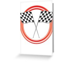 race flags Greeting Card