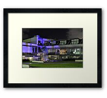 Night View Oxford Street Apartments Framed Print