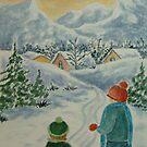 Joyful Winter Day by Ilunia Felczer