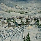 Serene Winter Village by Ilunia Felczer