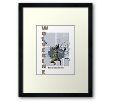 Wolverine best at what he does Framed Print