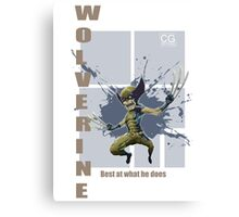 Wolverine best at what he does Canvas Print