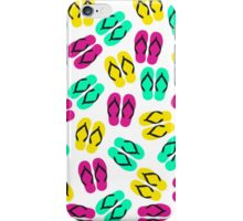 Cute Summer Neon Flip Flops Pattern iPhone Case/Skin