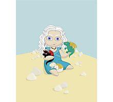 Daenerys Targaryen and her dragons, doll version Photographic Print