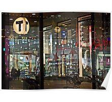 Reflection / Transmission - Stockholm city lights Poster