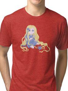Pretty and weird Rapunzel doll  Tri-blend T-Shirt