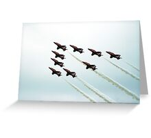 RAF Aerobatic Team Greeting Card