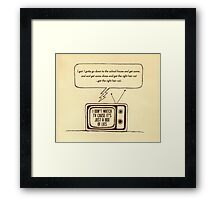 indy kidz lyrics cage the elephant retro illustration Framed Print