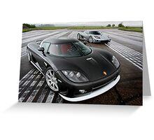 Koenigsegg CCX and CCXR Greeting Card