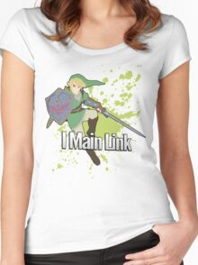 I Main Link - Super Smash Bros. Women's Fitted Scoop T-Shirt