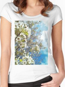 Pretty Spring. Women's Fitted Scoop T-Shirt