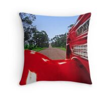 Out for a country drive Throw Pillow
