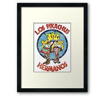 Los Pikachus Hermanos (Distressed Version) Framed Print