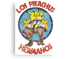 Los Pikachus Hermanos (Distressed Version) Canvas Print