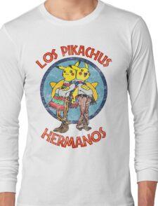 Los Pikachus Hermanos (Distressed Version) Long Sleeve T-Shirt