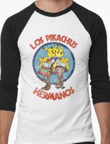 Los Pikachus Hermanos (Distressed Version) Men's Baseball ¾ T-Shirt