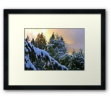 Frosty Alpenglow Framed Print