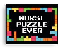 WORST PUZZLE EVER Canvas Print