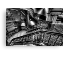 Over The Rails - QVB Building (Monochrome) , Sydney - The HDR Experience Canvas Print