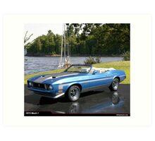 1973 Ford Mustang Mach 1 Convertable Art Print