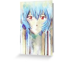 Ayanami Rei Evangelion Anime Tra Digital Painting  Greeting Card