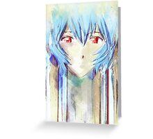 Ayanami Rei Evangelion Anime Tra Digital Painting  Greeting Card