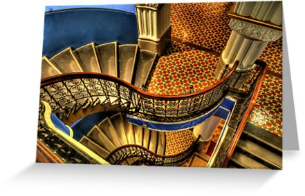 Vertigo - QVB Building (Colour)- The HDR Experience  by Philip Johnson