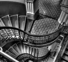 Vertigo - QVB Building  (Monochrome)- The HDR Experience  by Philip Johnson