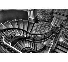 Vertigo - QVB Building  (Monochrome)- The HDR Experience  Photographic Print