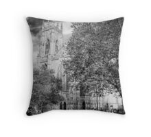 Horses and religion Throw Pillow