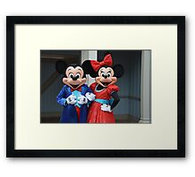 Disney Mickey Mouse Minnie Mouse Disney Mickey and Minnie Framed Print