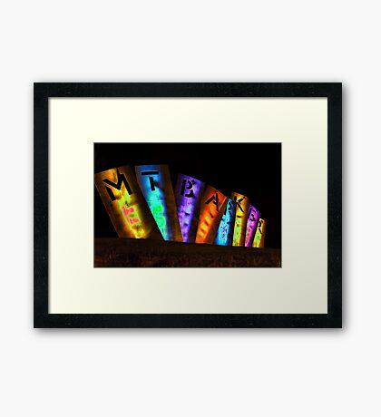 Mount Barker Lights Up Framed Print