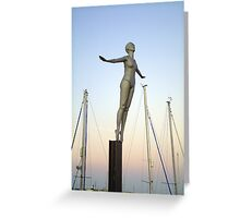 The Diving Belle Greeting Card