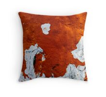 Confusion of Burnt Sienna Throw Pillow