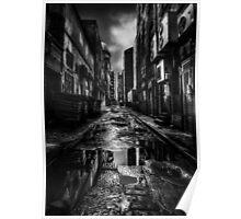 Dark City Streets Poster