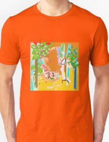 YELLOW, ORANGE, GREEN abstract garden Unisex T-Shirt