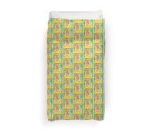 YELLOW, ORANGE, GREEN abstract garden Duvet Cover
