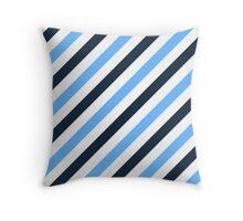 Navy-Diagonal-Tinted-White Two-Tone Diagonal Stripes Throw Pillow