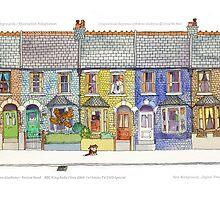 Mr Benn....Animation Backgrounds by Martin  Hazelgrave