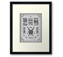 Legend of Zelda Hylian Shield Geek Line Artly Framed Print