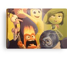 Disney Inside Out Characters Pixar Inside Out Characters Metal Print