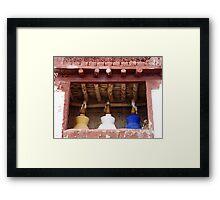 The Three Stupa Framed Print