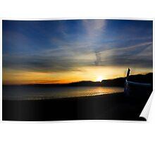 Boat & Sunset #2 Poster