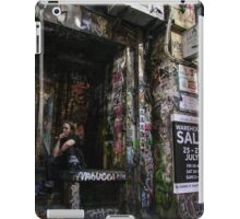 Smoking in a back alley iPad Case/Skin