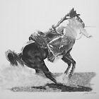 Diggin' In Rodeo Calf Roper by J.D. Bowman